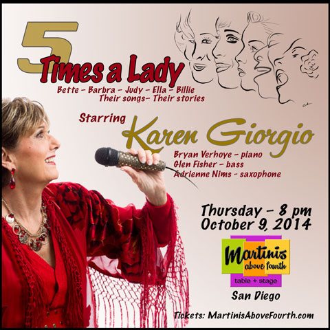 """Karen Giorgio starring in """"5 Times A Lady"""""""