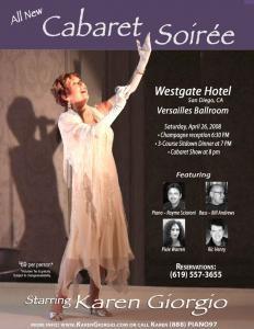 Karen Giorgio in Cabaret Soirée 2008